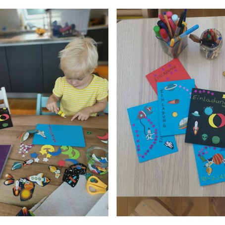 Unsere Weltraumparty zum 5. Geburtstag mit Schatzsuche