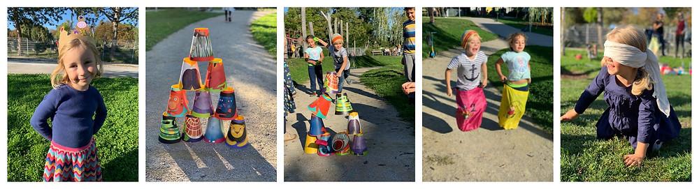 Spiele, Kindergeburtstag Weltraum Astronaut Planeten 5. Geburtstag, Katharina rührt