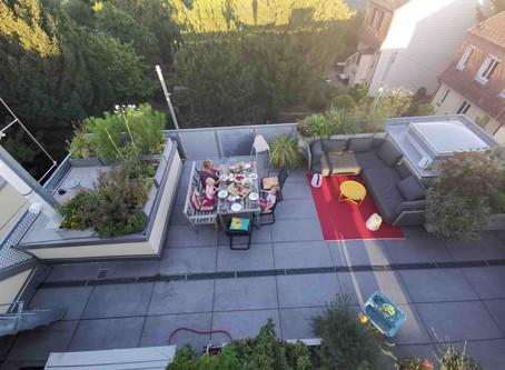 Meine Terrasse im September und das Rezept für meinen Hallo-Herbst-Essig