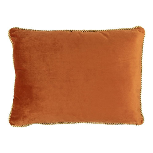 KISSEN SAMT GOLD ORANGE 35X45CM