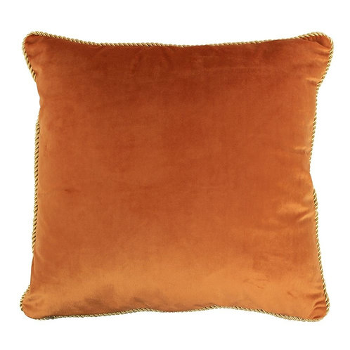 KISSEN SAMT GOLD ORANGE 45X45CM