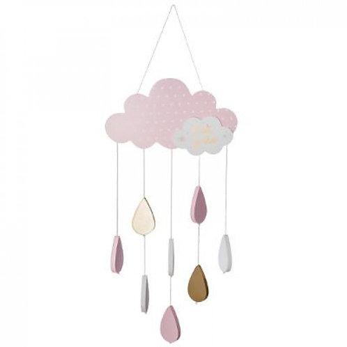 Wolken Mobile rosa gold