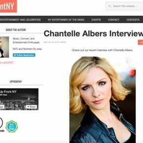 Upfront NY Magazine: Chantelle Albers