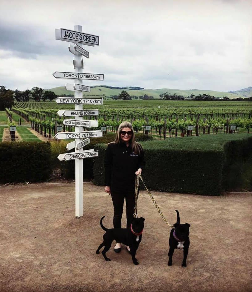 Flame and Kitt at the Barossa Valley
