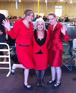2012 Royal Show Ladies in Red - Mel, Nina & Anita