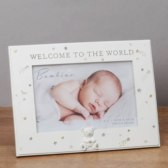 Bambino Resin Welcome to the World Photo Frame