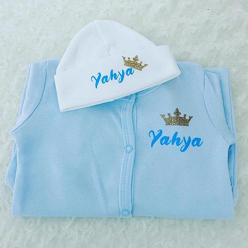 Personalised New Baby Gift Set, Newborn Clothing Set
