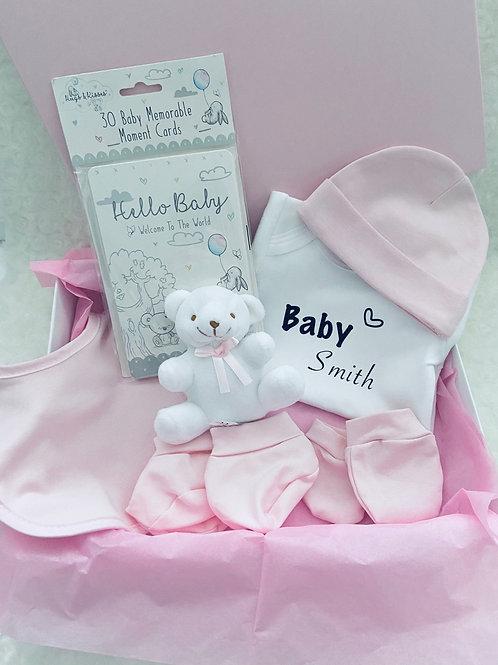 Personalised Baby Girl Gift Set, Newborn Hampers, New Mum Gift