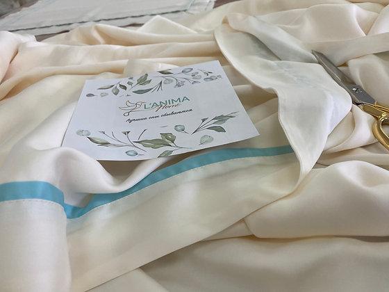 Постельное белье из тенселя цвет сливочный с кантами «Тиффани» кант ребром