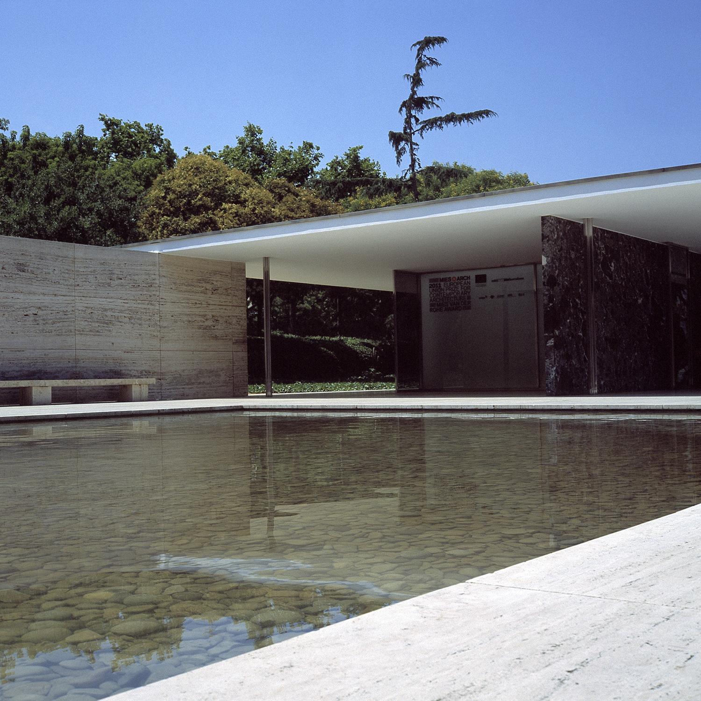 pavillon allemand - van der rohe