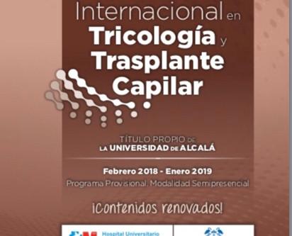 III Máster International en Tricología y Trasplante Capilar-Universidad de Alcalá