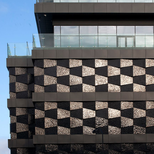 "Decorative glass facades, ""Double TreeHilton Hotel"", Minsk"