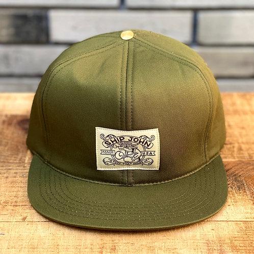 Trucker Hat -Organic Olive Twill-