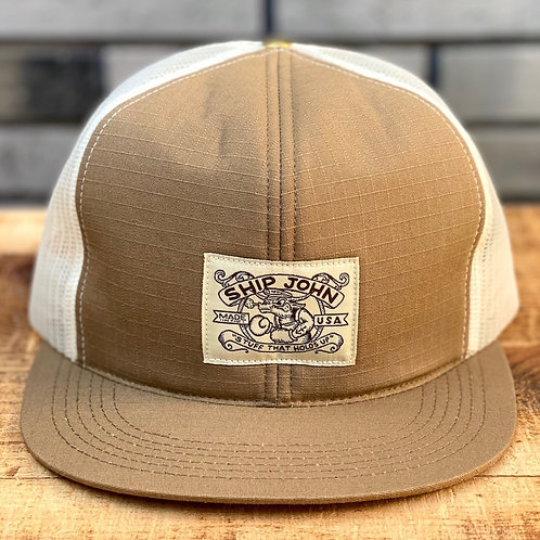 Trucker Hat -Tan Ripstop / Mesh-