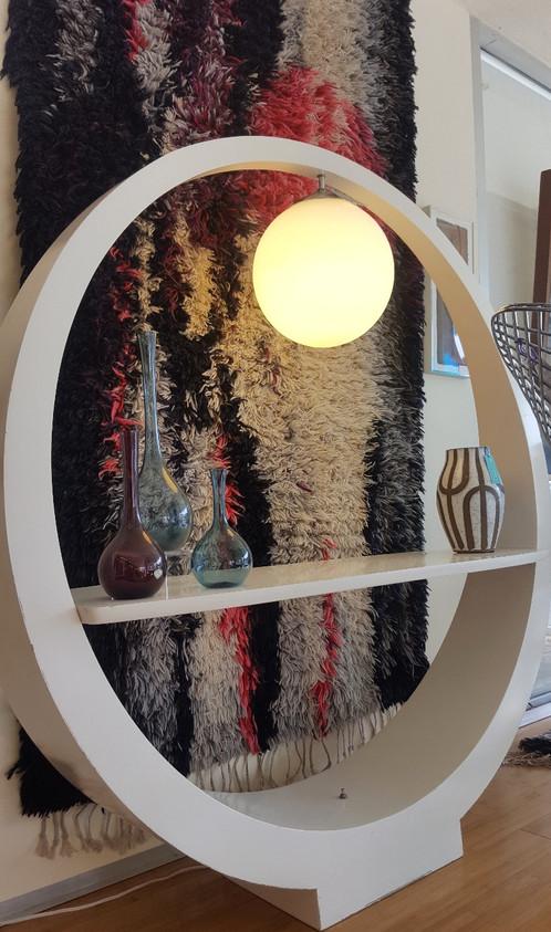 Modeline Circular Floor Lamp w/ Shelf | Milestones Mid Century ...