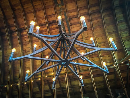 Dancing Fish Vineyards - Barn Chandelier