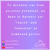 To discover our true positive potential