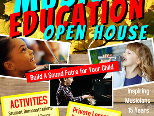 Music Education Fair | Open House: SEP 14, 3pm. Forums, Demonstrations, Tour, Discounts, Enroll