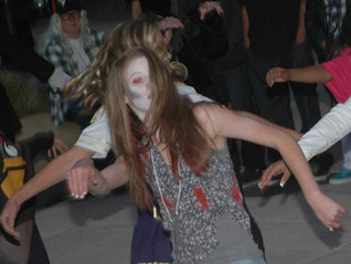 """Thriller"" in Vacaville Town Square Community Dance Along"