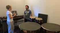 Volunteers Renovate Studio for Percussion Students