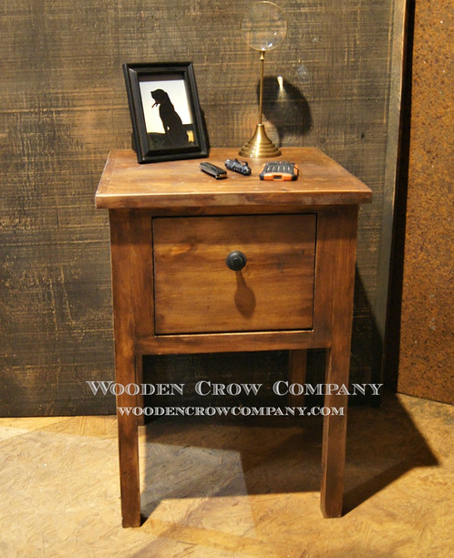 Nightstand Side Table With Hidden Gun Storage Wooden