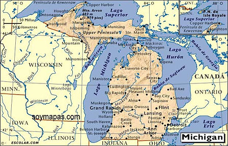 Carte du Michigan
