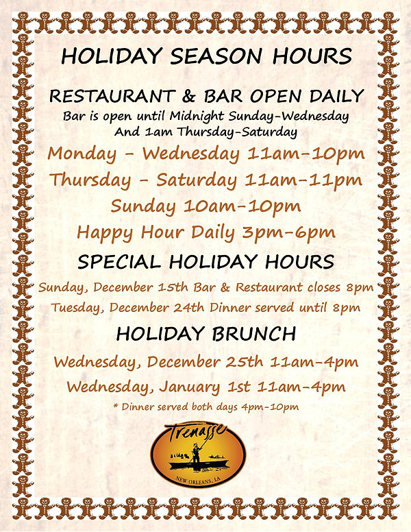 Trenasse Holiday Hours Sign 12-10-19-pag