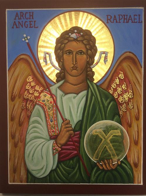 Icon print Archangel Raphael 11 x 14