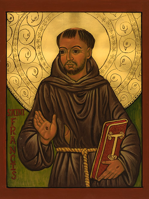 Icon print Saint Francis of Assisi  8 x 10