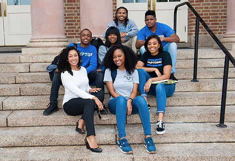 Hampton-University-Students-Sitting-on-C