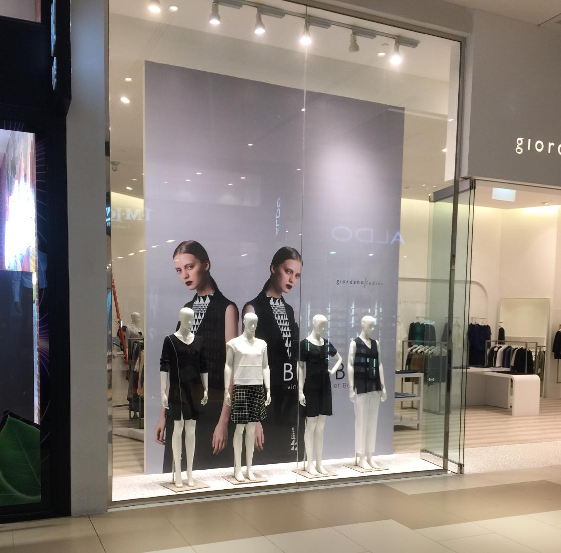Giordano Ladies Window Display