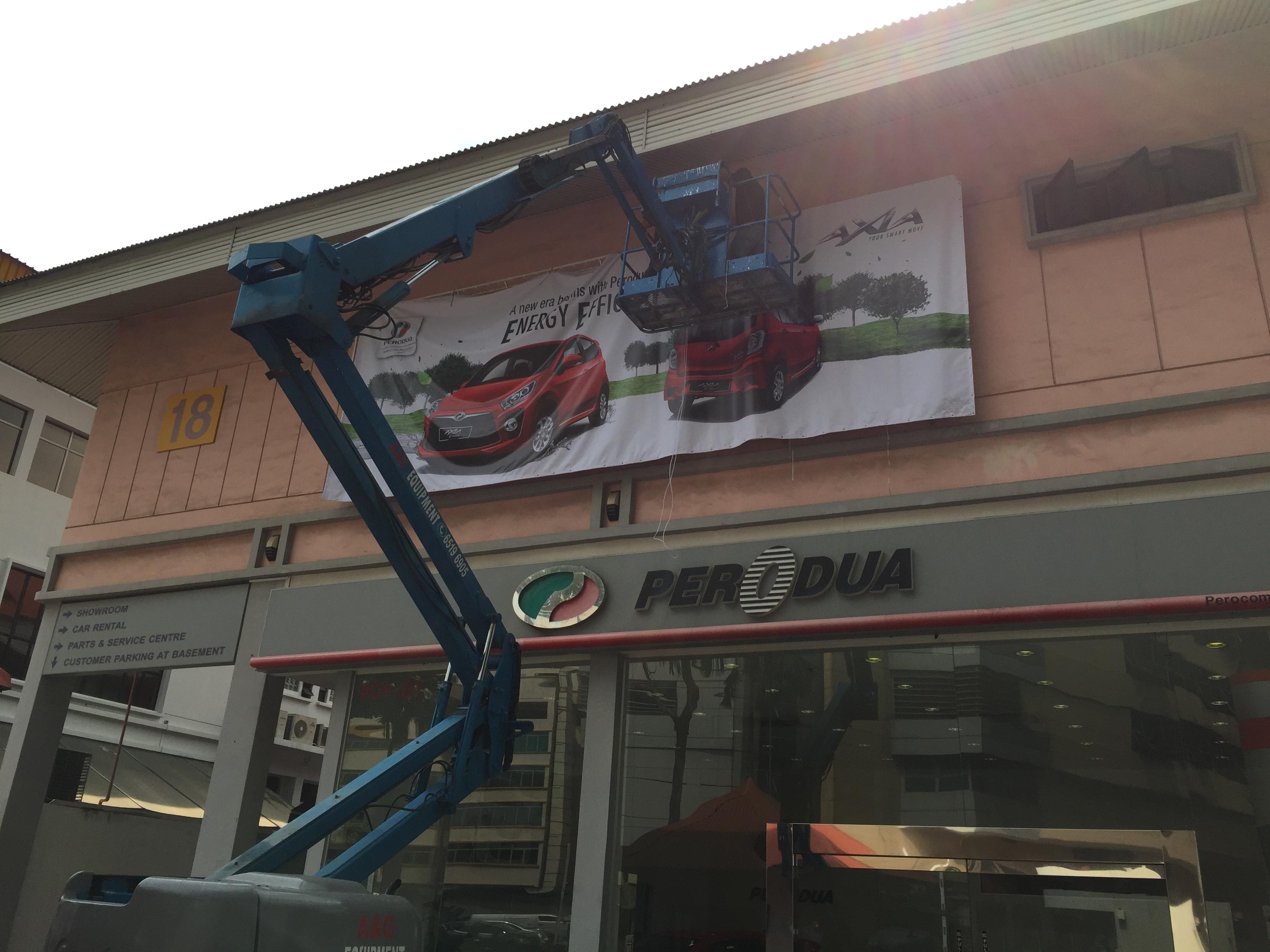 Perodua Exterior Branding Banner