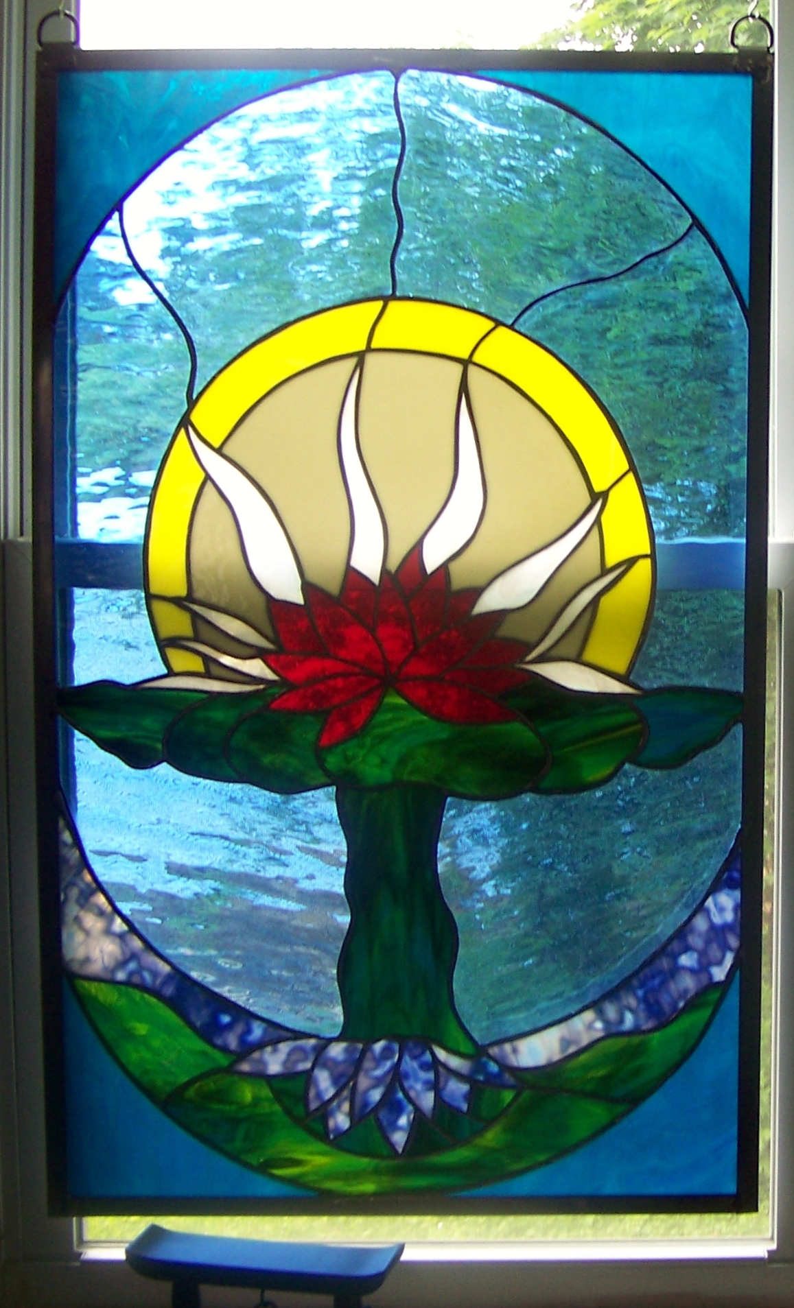 Lotus Meditation Window