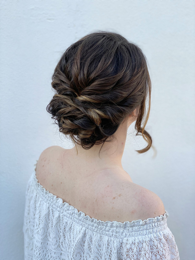Bohemian messy hairstyle