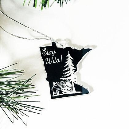 Stay Wild Tree Ornament