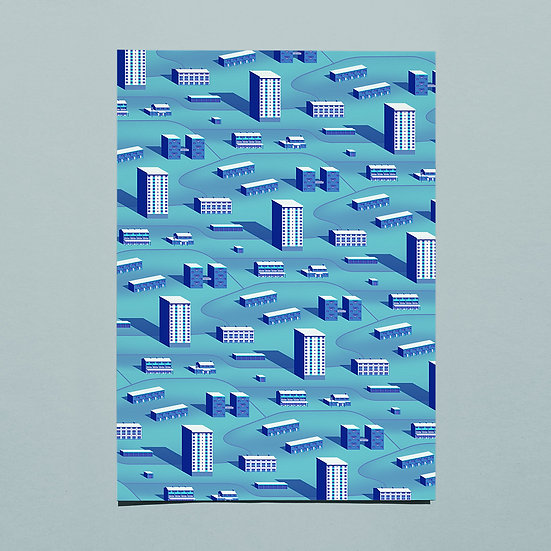 Hillside Estate Pattern - tint one