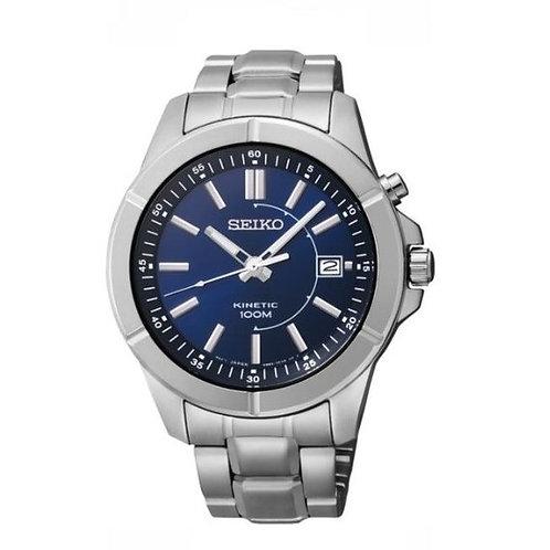 Seiko Men's Kinetic Quartz Watch with Blue Dial, SKA539P1