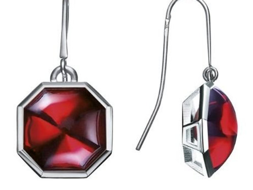 Baccarat L Illustre Red Crystal Drop Earrings