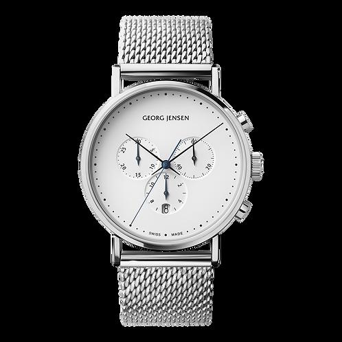Georg Jensen White Quartz Chronograph - HK317