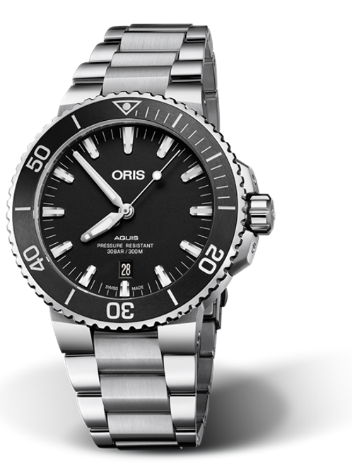 Oris Aquis Date Black 01 733 7730 4154-07 8 24 05PEB