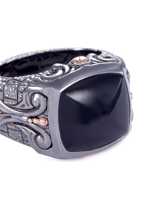 Stephen Webster London Calling Signet Ring with Onyx Inlay