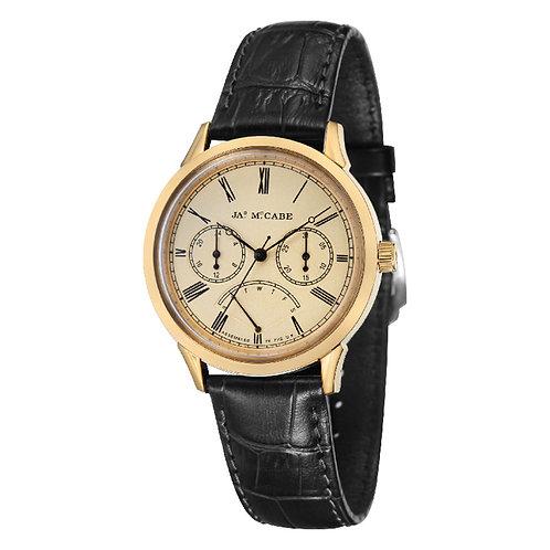 James McCabe Heritage Retrograde Gold Men's Watch, JM-1019-08