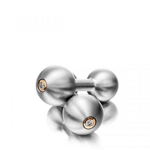 Meister Titanium and Diamond Cufflinks