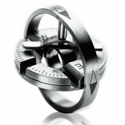 Meister Titanium Compass Pendant