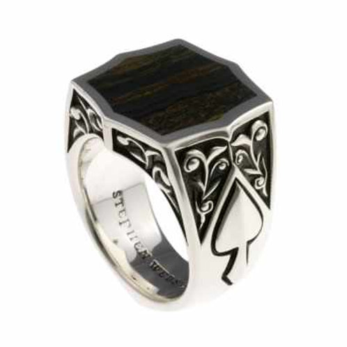 Stephen Webster Aces Inlay Ring (Hemetite)