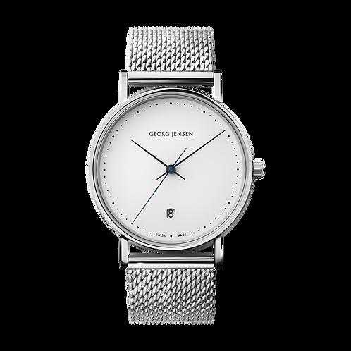 Georg Jensen White Quartz Date Watch - HK303