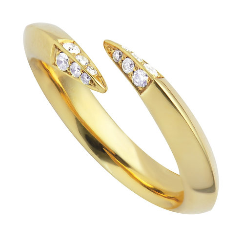 Shaun Leane Yellow Gold Signature Open Ring with 0.12ct Diamonds