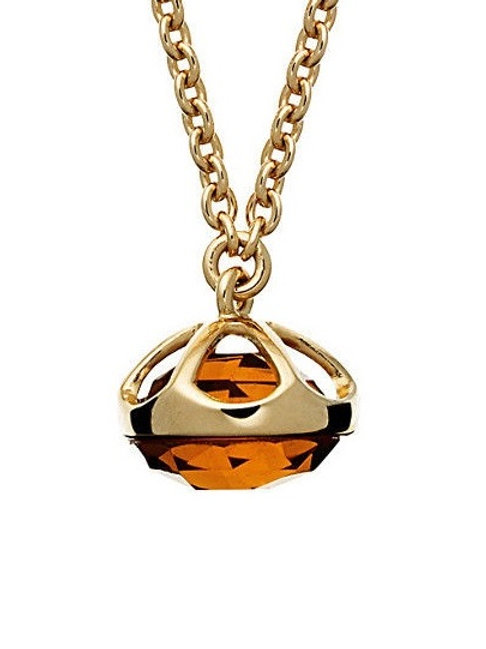 Baccarat B-Lovely Crystal Charm on 18k Gold Vermeil Necklace