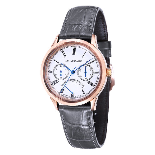 James McCabe Heritage Retrograde Rose Gold Men's Watch, JM-1019-0A