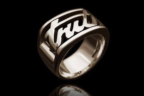 William Cheshire Silver Truth Ring